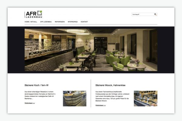 AFR-Ladenbau / Website