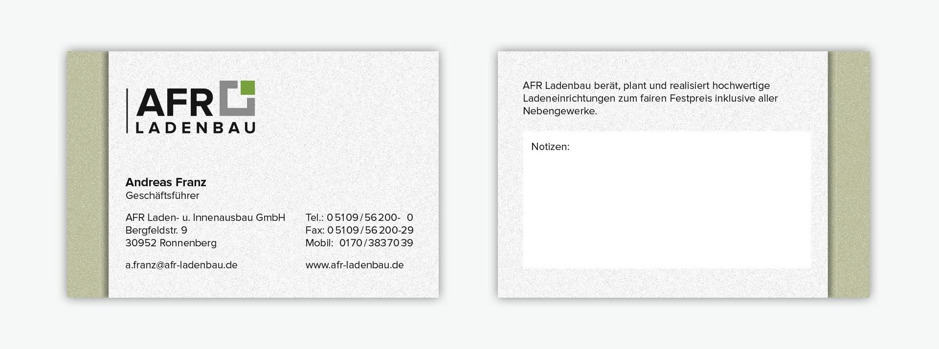 2018 Referenzen Printdesign Visitenkarten Kaffee