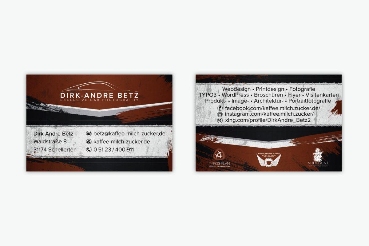 2018 Printdesign Visitenkarten Archive Kaffee Milch Zucker
